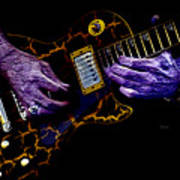 Musical Grunge  Print by Steven  Digman
