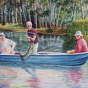 Musky Madness Print by Marilyn Smith
