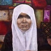 Muslim Woman Print by Ixchel Amor