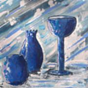 My Blue Vases Print by J R Seymour