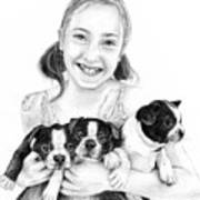 My Puppies Print by Mike Ivey