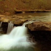 Mystical King River Falls Print by Iris Greenwell