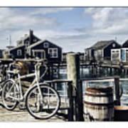 Nantucket Bikes 1 Print by Tammy Wetzel