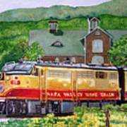 Napa Wine Train Print by Gail Chandler