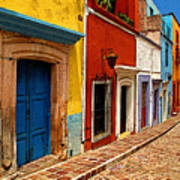 Neighbors Of The Yellow House Print by Mexicolors Art Photography