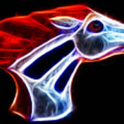 Neon Bronco Print by Shane Bechler