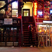 Neon Lights - New York City At Night Print by Vivienne Gucwa