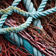 Nets And Knots Number Six Print by Elena Nosyreva