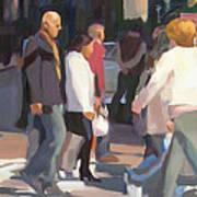 New York Crosswalk Print by Merle Keller