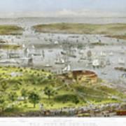 New York Harbor, 1872 Print by Granger