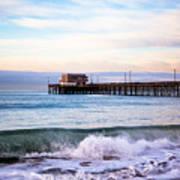 Newport Beach Ca Pier At Sunrise Print by Paul Velgos
