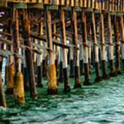 Newport Beach Pier Close Up Print by Mariola Bitner