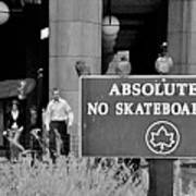 No Skateboarding Print by Brian Wallace