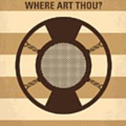 No055 My O Brother Where Art Thou Minimal Movie Poster Print by Chungkong Art