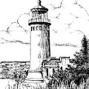 North Head Lighthouse Print by Lawrence Tripoli