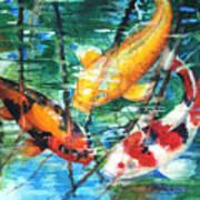 November Koi Print by Patricia Allingham Carlson