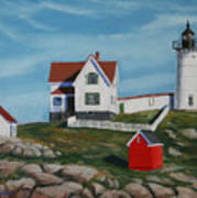 Nubble Light House Print by Paul Walsh