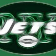 Ny Jets Fantasy Print by Paul Ward