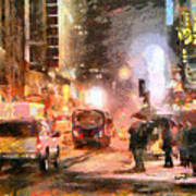 Nyc At Night Print by Anthony Caruso
