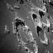 Oblique View Of The Lunar Surface Print by Stocktrek Images