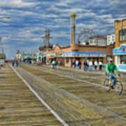 Ocean City Boardwalk Print by Edward Sobuta