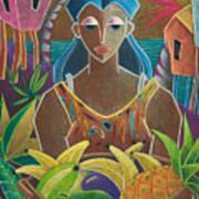 Ofrendas De Mi Tierra Print by Oscar Ortiz