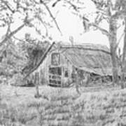 Old Barn 2 Print by Barry Jones