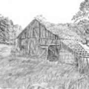 Old Barn 3 Print by Barry Jones