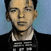 Old Blue Eyes - Frank Sinatra Print by Bill Cannon