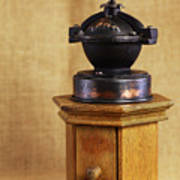 Old Coffee Grinder Print by Falko Follert