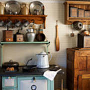 Old Country Kitchen Print by Carmen Del Valle