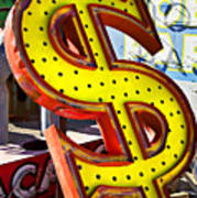 Old Dollar Sign Print by Garry Gay