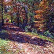 Old Farmhouse Road Print by David Lloyd Glover