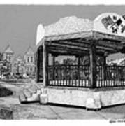 Old Mesilla Plaza And Gazebo Print by Jack Pumphrey