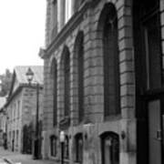 Old Montreal Street Scene Print by Reb Frost