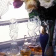 Old Perfume Bottles Print by Garry Gay