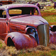 Old Rusty Car Bodie Ghost Town Print by Garry Gay