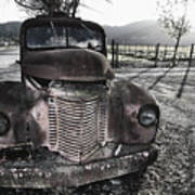 Old Truck In Napa Valley Print by George Oze