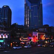On Broadway In Nashville Print by Susanne Van Hulst