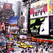 On Broadway New York Print by Rosie Brown
