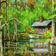 On The Bayou Print by Dianne Parks