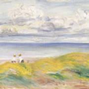 On The Cliffs Print by Pierre Auguste Renoir