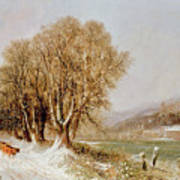 On The River Neckar Near Heidelberg Print by Joseph Paul Pettit