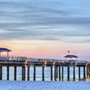 Orange Beach Pier Print by JC Findley
