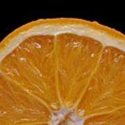 Orange Sunrise On Black Print by Laura Mountainspring