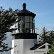 Oregon Lighthouses - Cape Meares Lighthouse Print by Christine Till