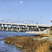 Ormond Beach Bridge Print by Deborah Benoit