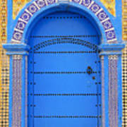 Ornate Moroccan Doorway, Essaouira, Morocco, Middle East, North Africa, Africa Print by Andrea Thompson Photography