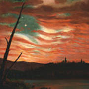 Our Banner In The Sky Print by Frederic Edwin Church