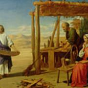 Our Saviour Subject To His Parents At Nazareth Print by John Rogers Herbert